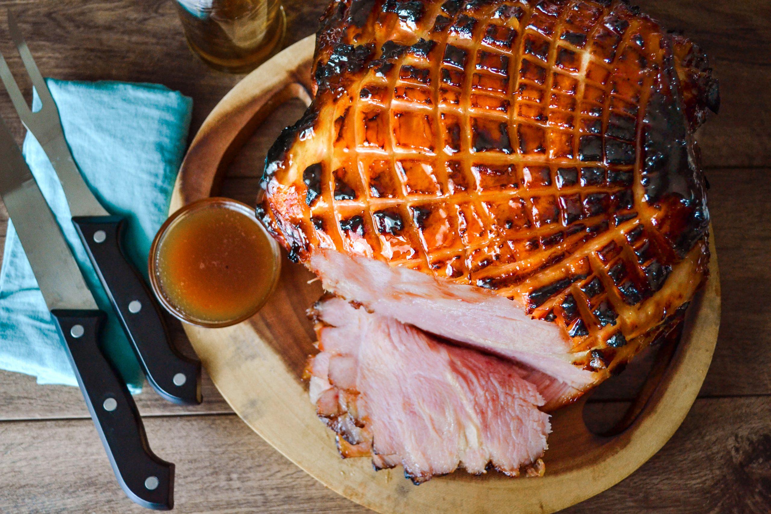 Rum and Brown Sugar Glazed Ham