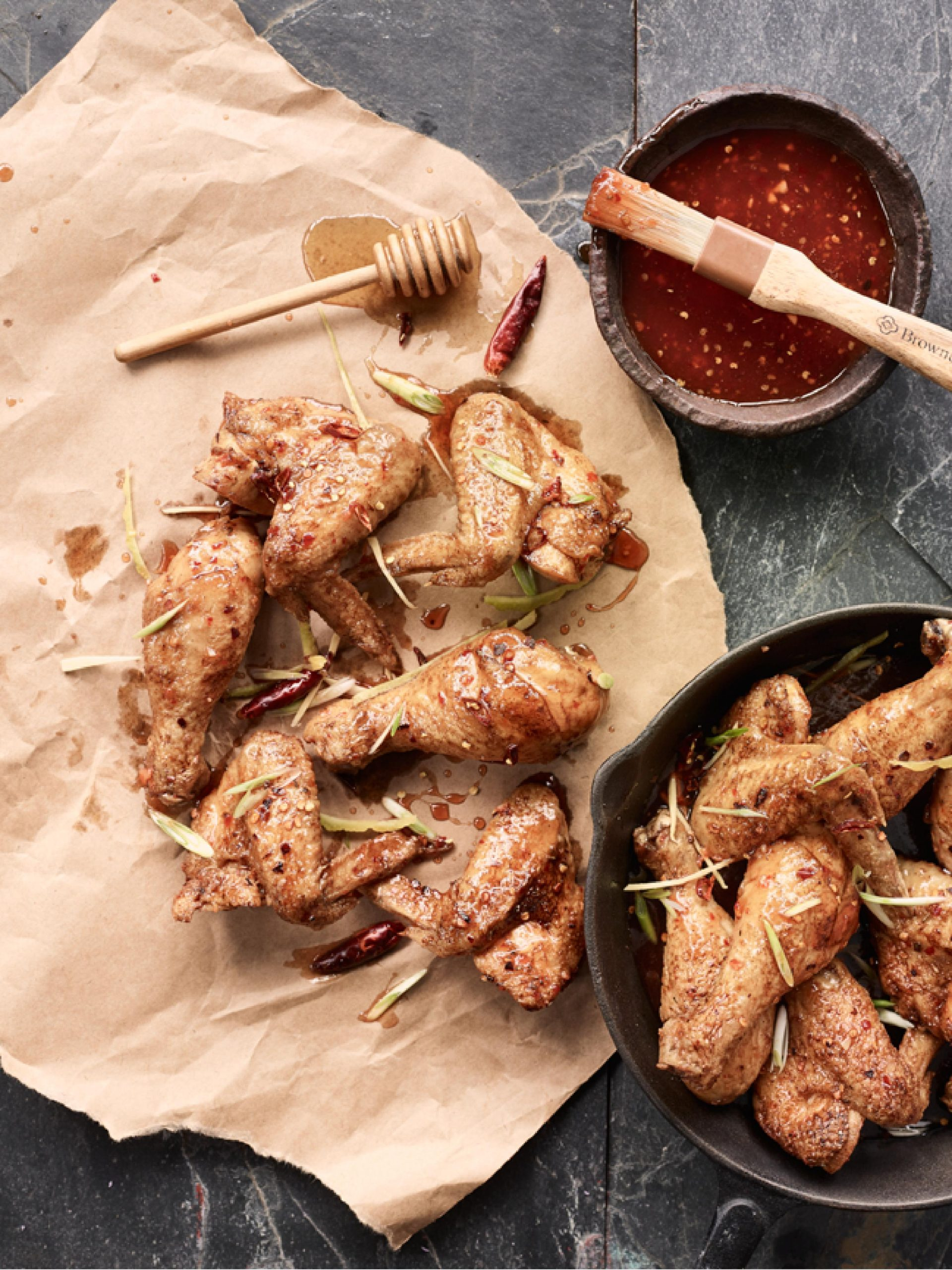 Honey Ginger Chili Wings & Legs