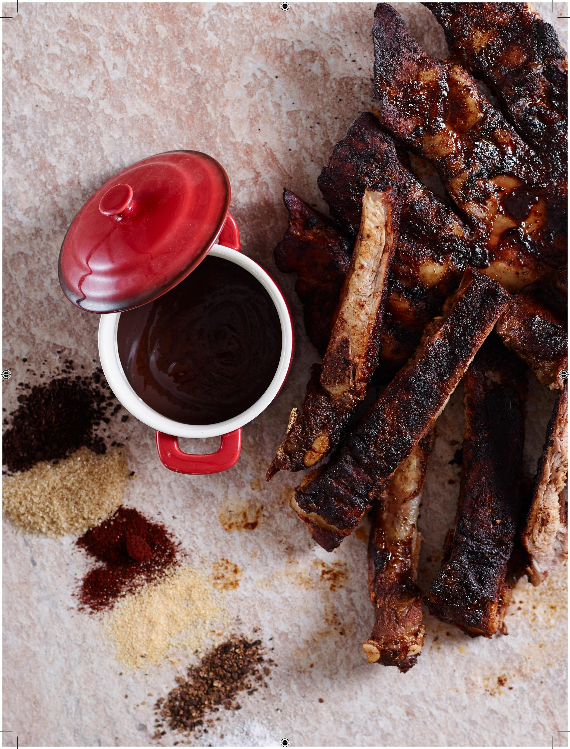 Brown Sugar Coffee Rubbed Spare Ribs