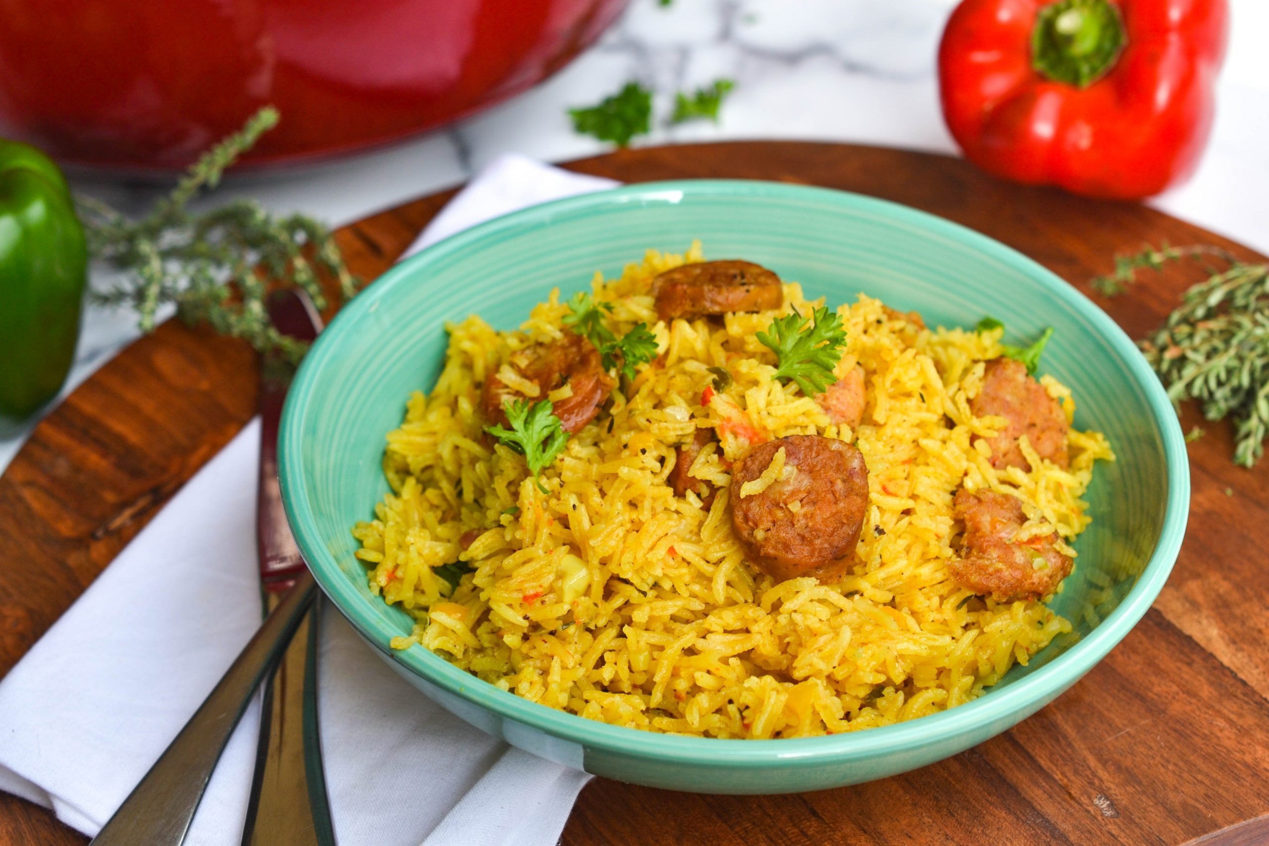 Jerk Sausage Seasoned Rice