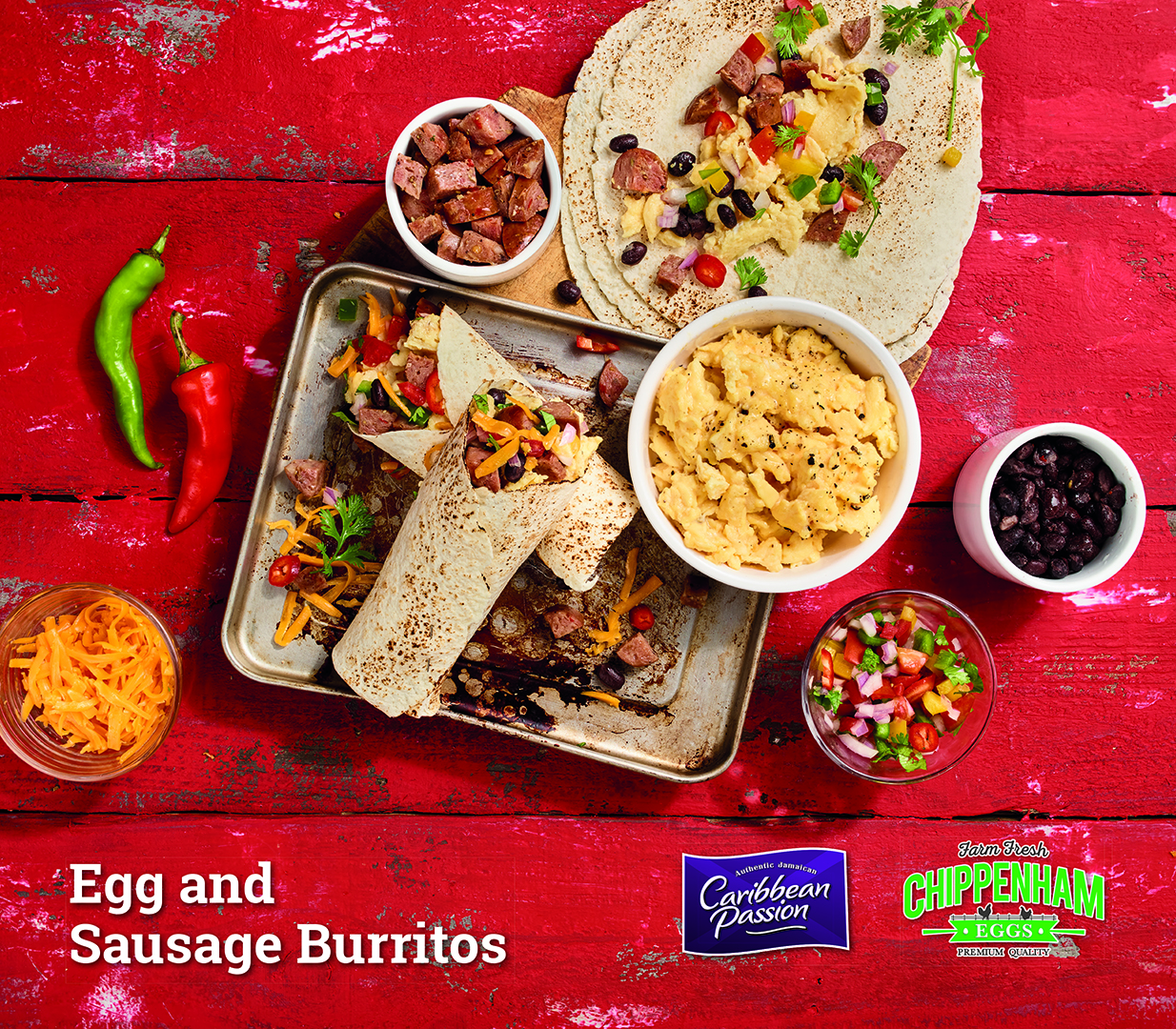 Egg and Sausage Burritos