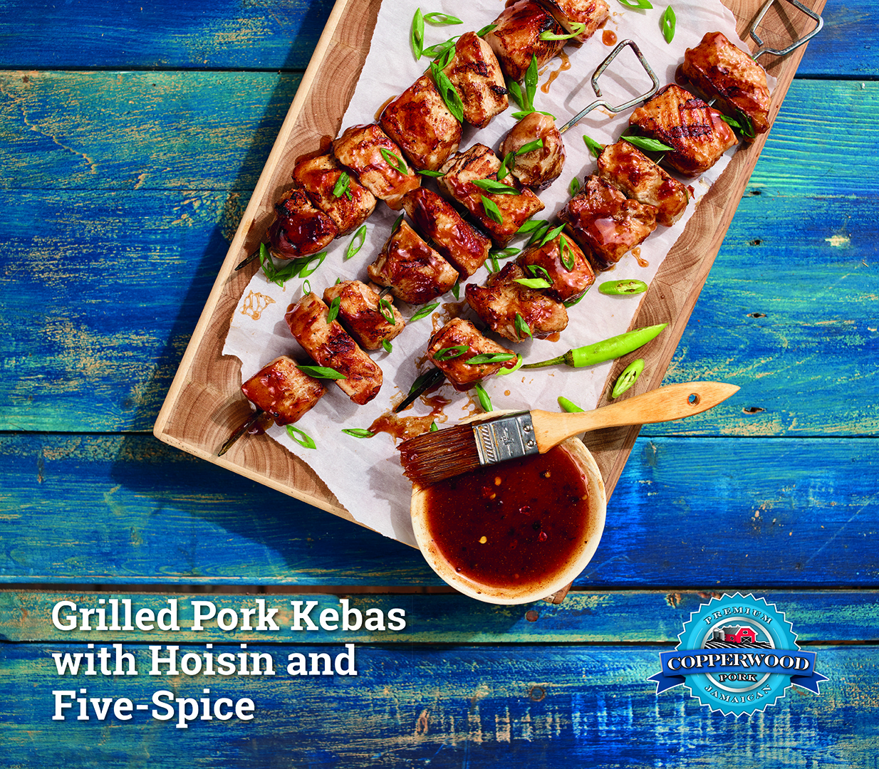 Grilled Pork Kebas with Hoisin and Five Spice
