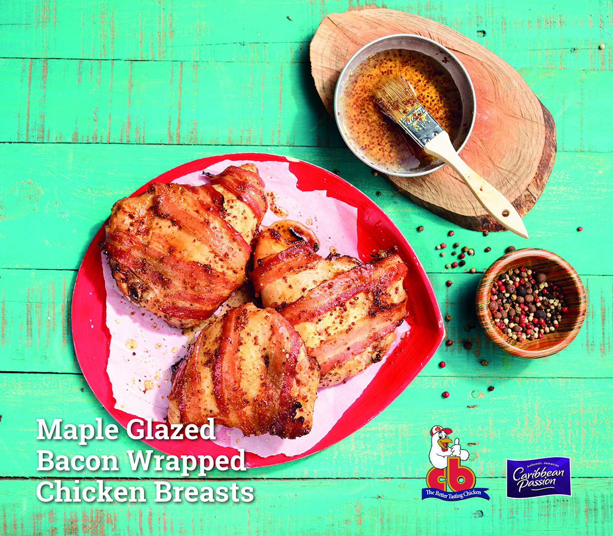 Maple Glazed Bacon Wrapped Chicken Breasts