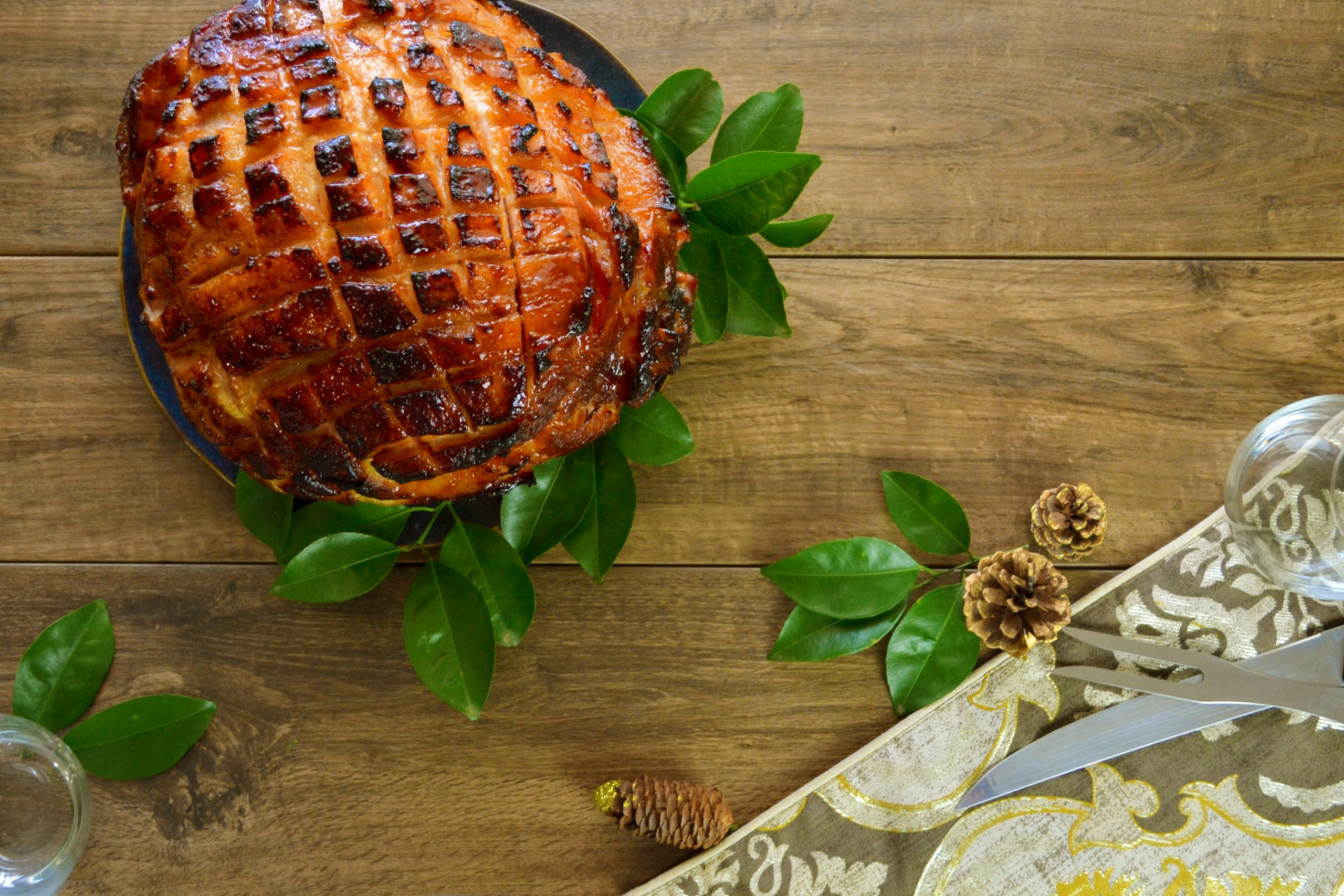 Passion Fruit Glazed Ham