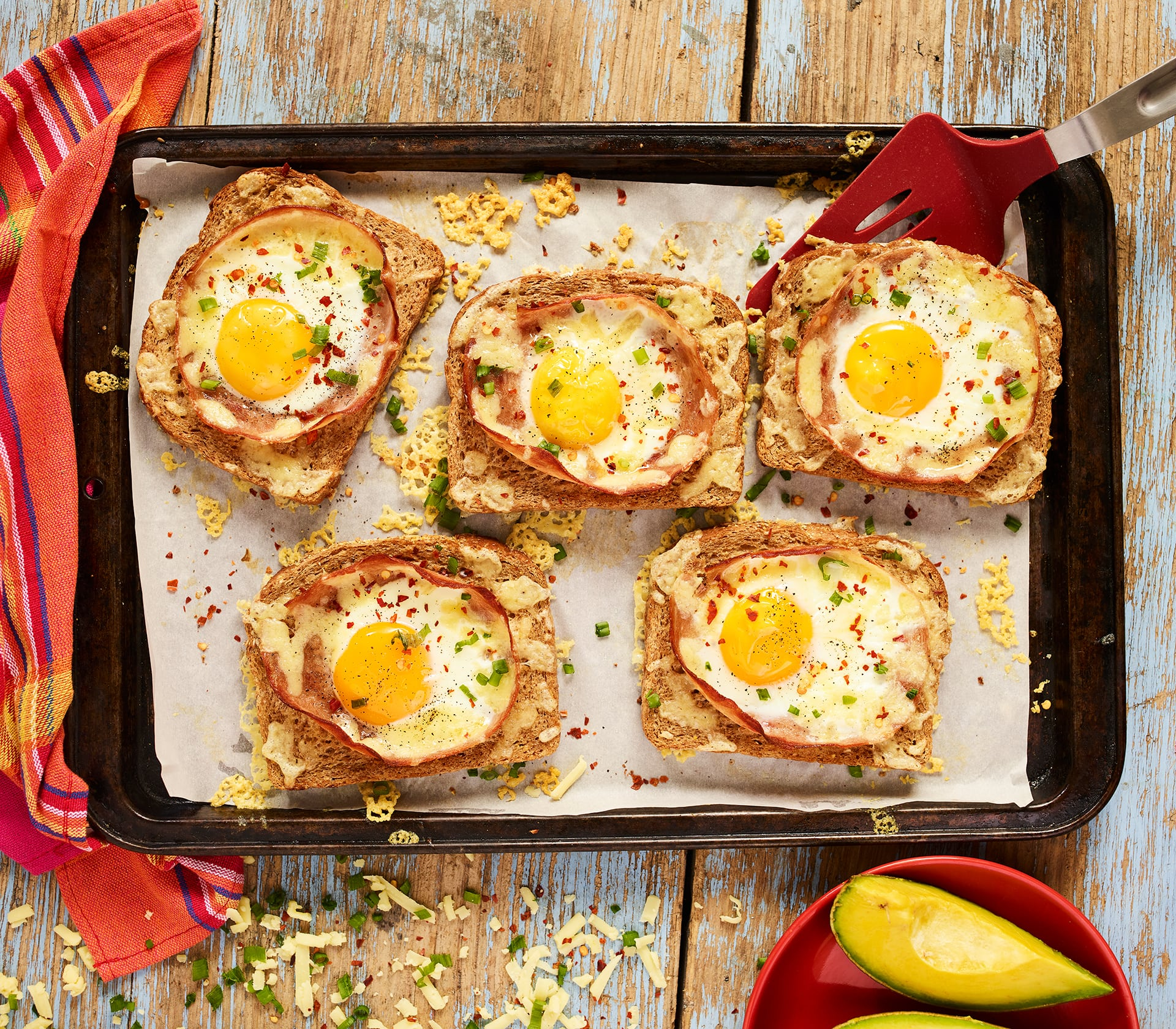Cheesy Passion Deli and Egg in a Hole Bake