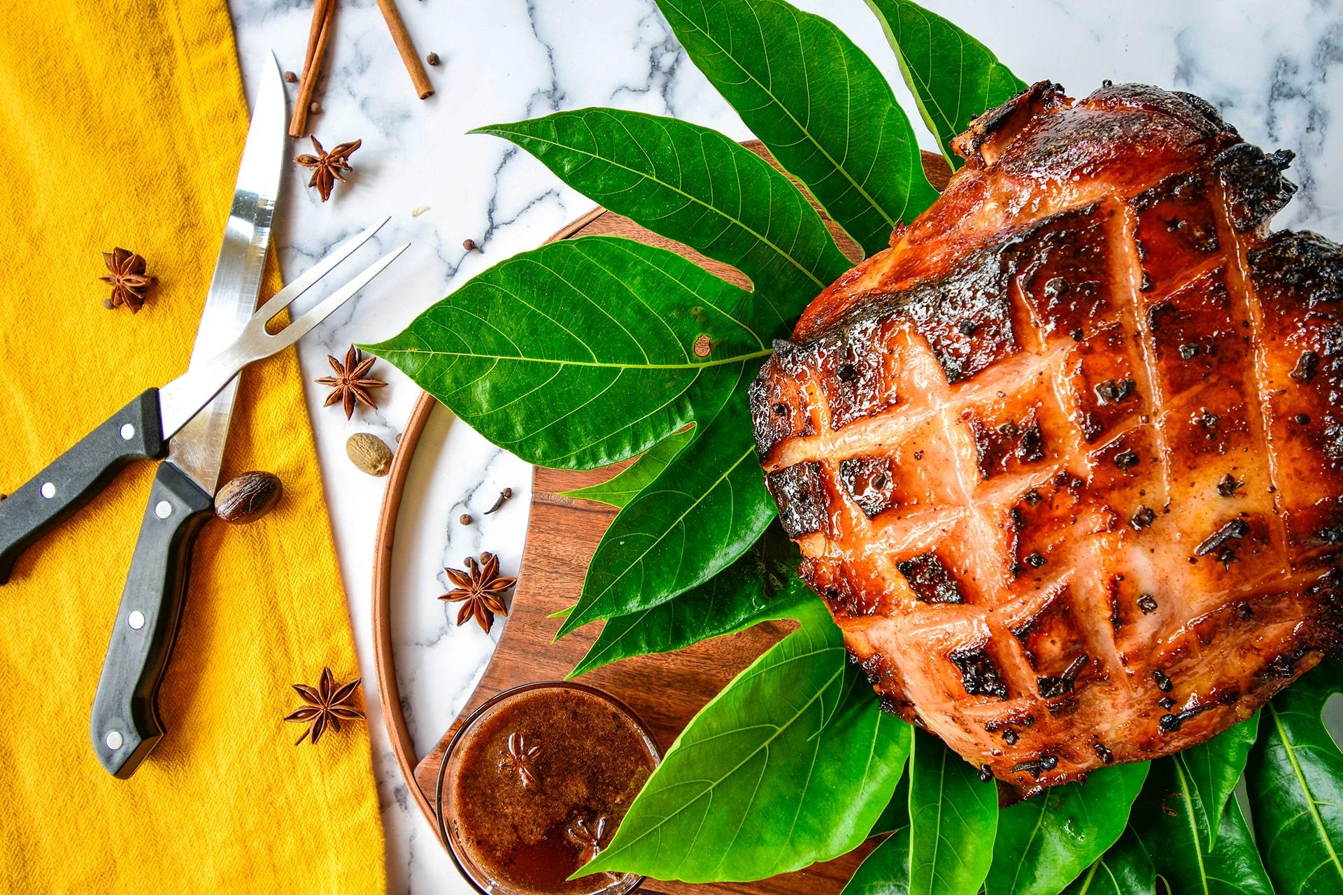 Spiced Maple Picnic Ham