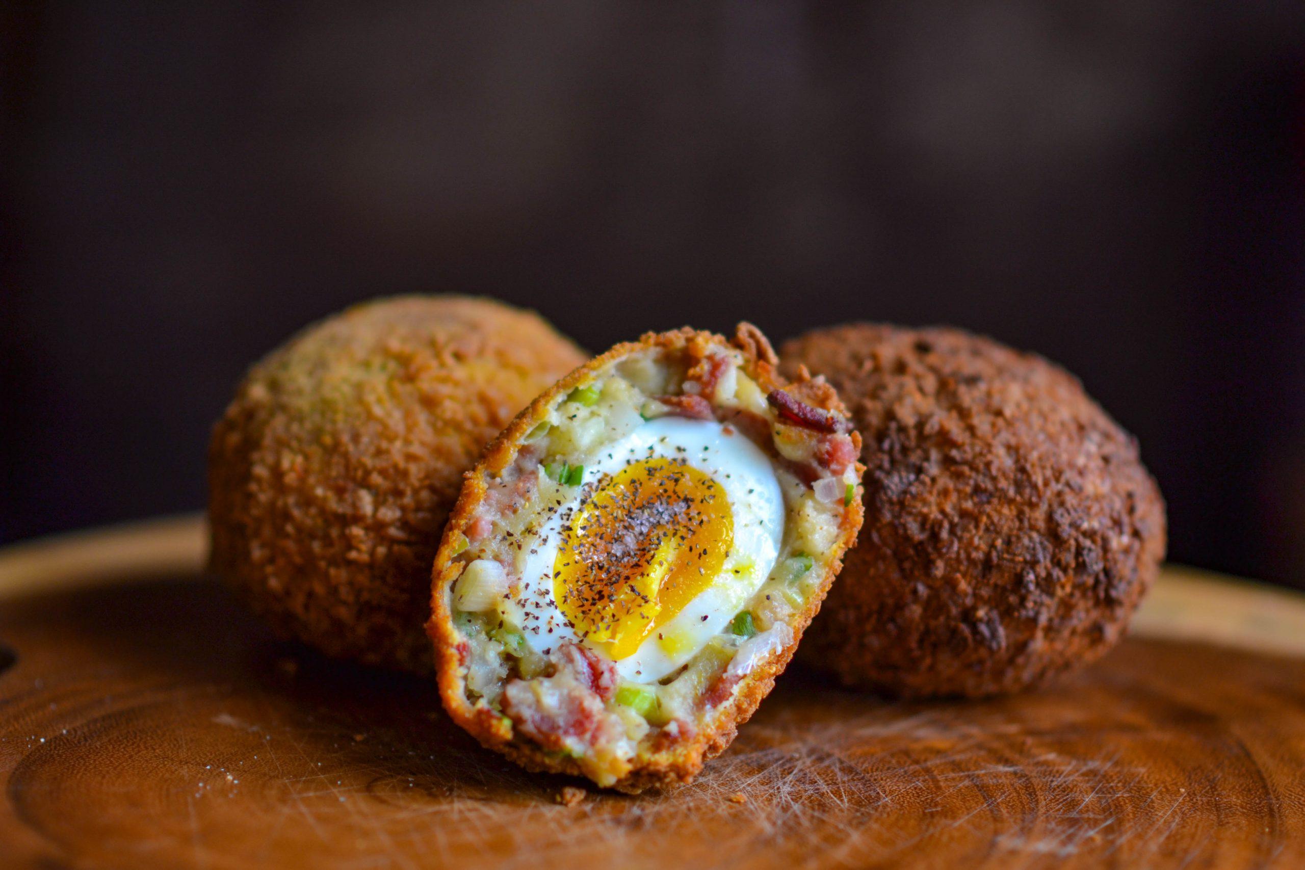 Bacon Potato Scotch Eggs